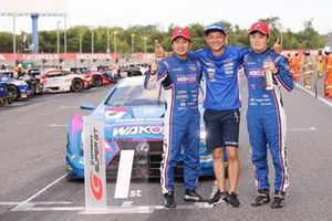 Race winners #6 Lexus Team LeMans Lexus LC500: Kazuya Oshima, Kenta Yamashita with Juichi Wakisaka, Team Principal, Lexus Team LeMans