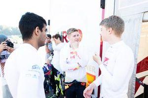 Juri Vips, Hitech Grand Prix Marcus Armstrong, PREMA Racing en Jehan Daruvala, PREMA Racing
