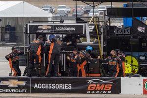Sheldon Creed, GMS Racing, Chevrolet Silverado Chevy Truck Month crew celebrates hic victory