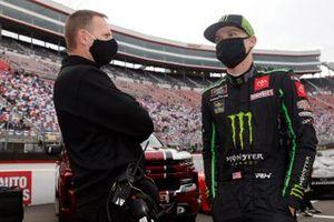 Riley Herbst, Joe Gibbs Racing, Toyota Supra Monster Energy and Dave Rogers