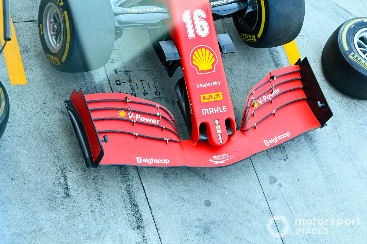Front wing detail on the Ferrari SF1000