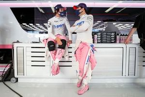 Lance Stroll, Racing Point, and Sergio Perez, Racing Poin