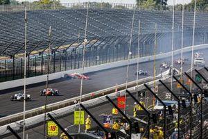 Spencer Pigot, Rahal Letterman Lanigan Racing w/ Citrone/Buhl Autosport Honda crashes