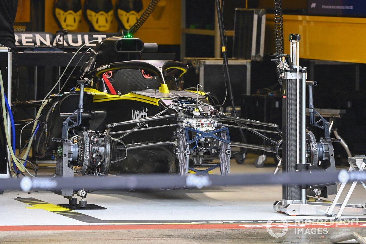 Detalle del monoplaza de Renault