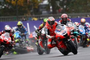 Jack Miller, Pramac Racing leads, Valentino Rossi, Yamaha Factory Racing crashes