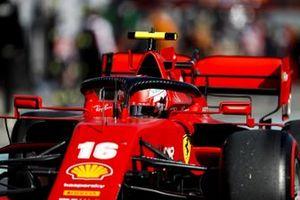 Charles Leclerc, Ferrari SF1000, heads to the grid