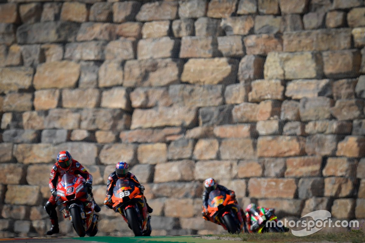 Danilo Petrucci, Ducati Team, Brad Binder, Red Bull KTM Factory Racing