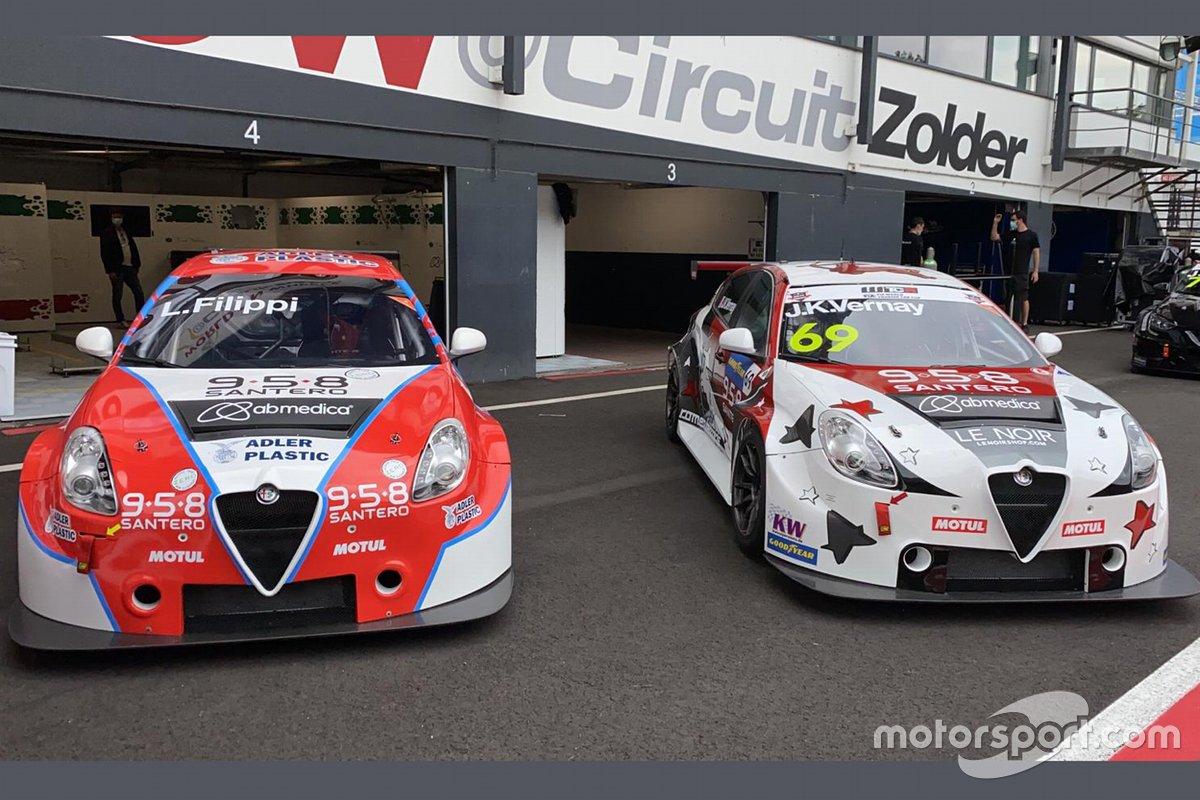 Luca Filippi, Jean-Karl Vernay, Team Mulsanne, Romeo Ferraris, Alfa Romeo Giulietta Veloce TCR