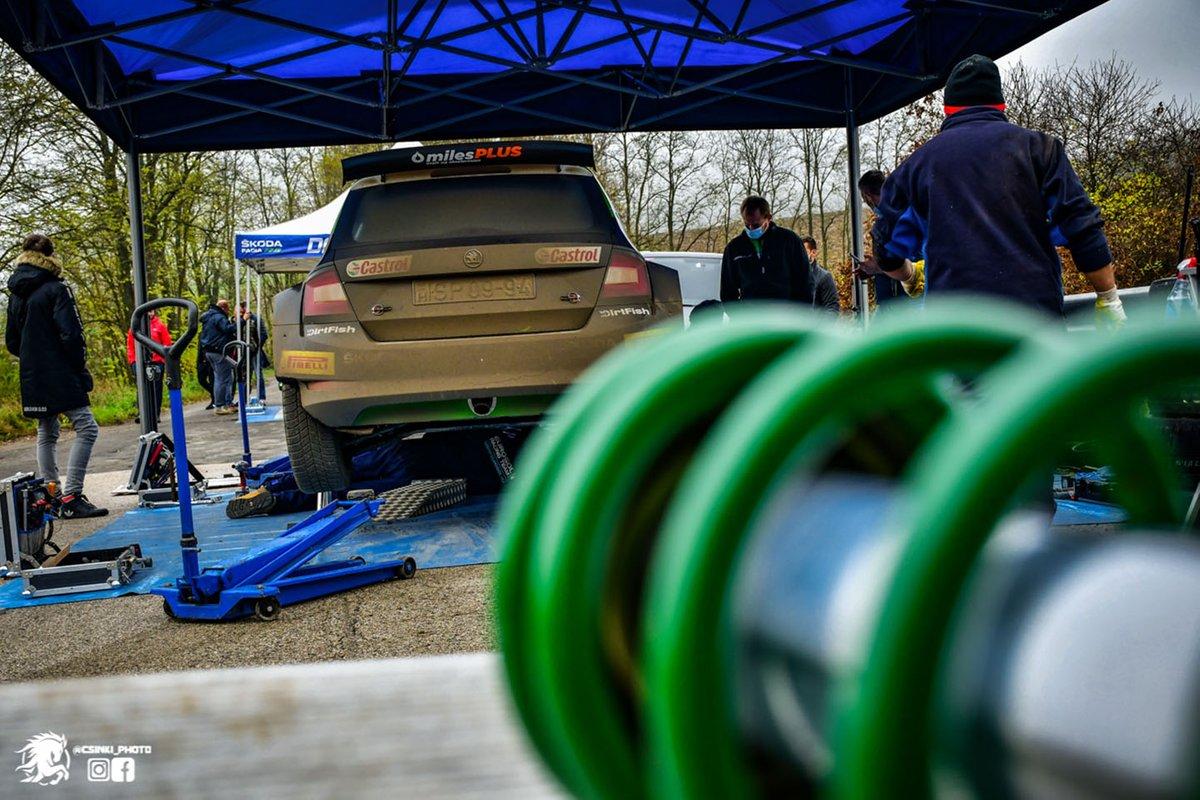 Oliver Solberg, Aaron Johnston, Eurosol Racing Team, Skoda Fabia Rally2 Evo