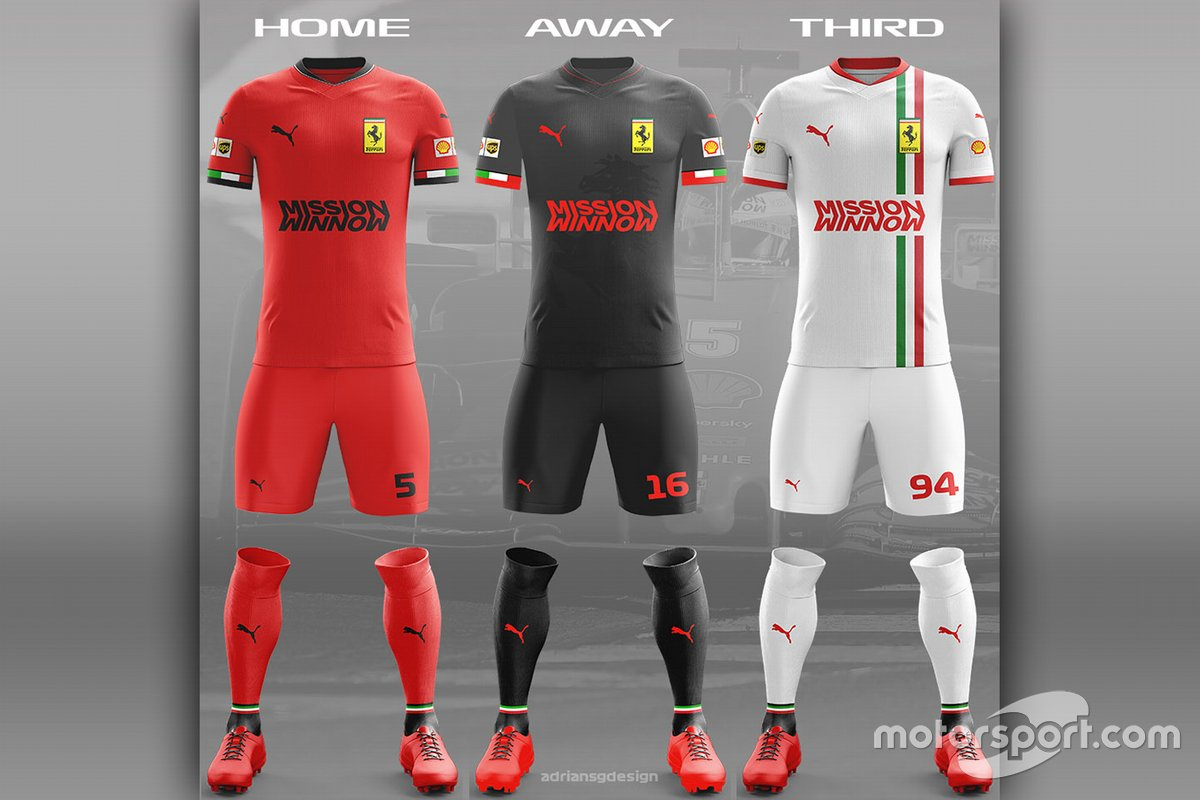 Ferrari football team kit