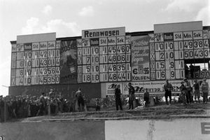The scoring board at the Nürburgring