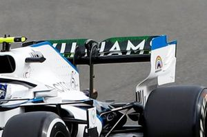 Nicholas Latifi, Williams FW43 rear wing detail