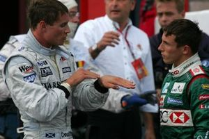 David Coulthard, Mclaren discusses his coming together with Christian Klien, Jaguar after the race