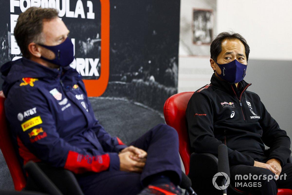 Кристиан Хорнер, Red Bull Racing, и Тойохару Танабе, Honda