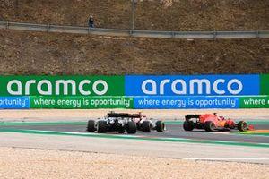 Sebastian Vettel, Ferrari SF1000, Antonio Giovinazzi, Alfa Romeo Racing C39, and Daniil Kvyat, AlphaTauri AT01