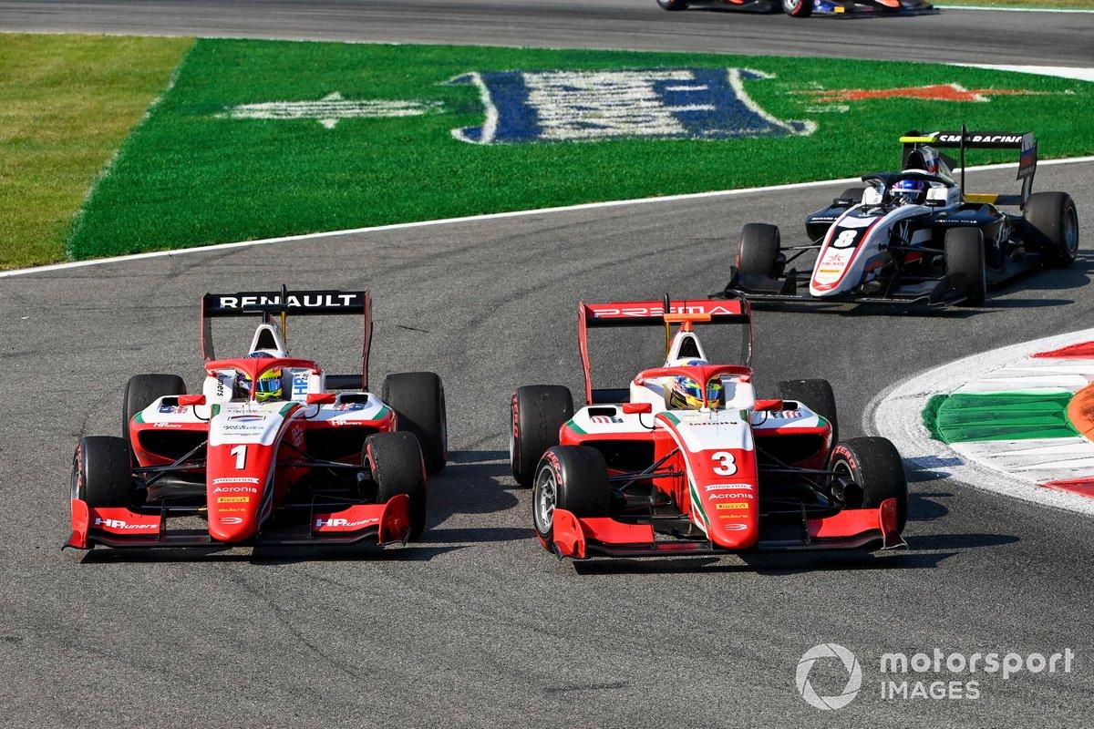 Oscar Piastri, Prema Racing y Logan Sargeant, Prema Racing battle
