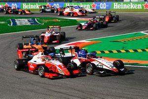 Logan Sargeant, Prema Racing, Igor Fraga, Charouz Racing System et Alexander Peroni, Campos Racing