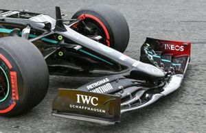 Front wing on the car of Valtteri Bottas, Mercedes F1 W11