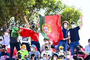 Fans with Portuguese flags