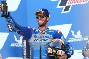 Le vainqueur Alex Rins, Team Suzuki MotoGP