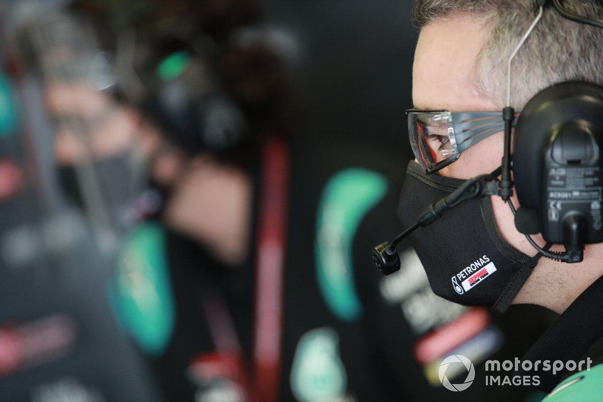 La moto de Fabio Quartararo, Petronas Yamaha SRT team