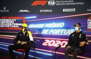 Esteban Ocon, Renault F1 and Daniel Ricciardo, Renault F1 in the press conference