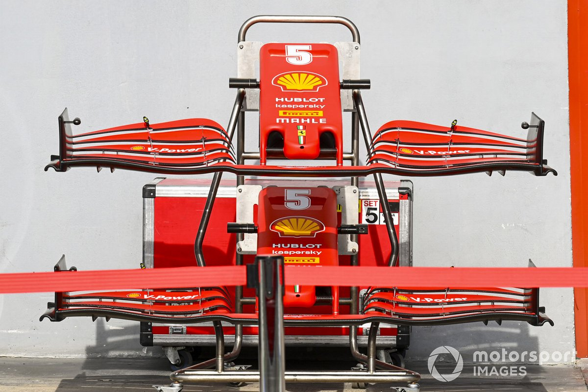 Front wings for the car of Sebastian Vettel, Ferrari SF1000