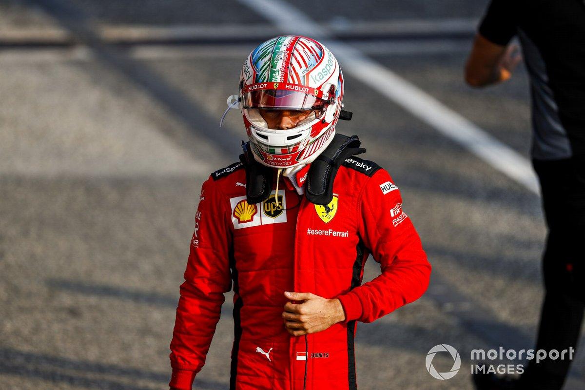 Charles Leclerc, Ferrari nel parco chiuso