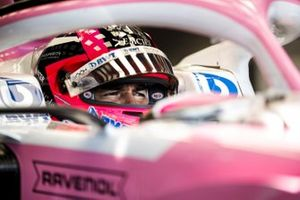Sergio Perez, Racing Point, in his cockpit