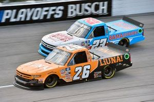 Tyler Ankrum, GMS Racing, Chevrolet Silverado LiUNA! and Chase Purdy, GMS Racing, Chevrolet Silverado Bamabuggies.com