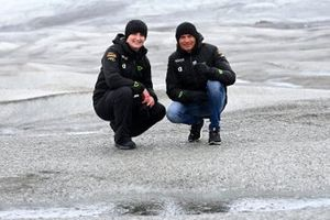 Emma Gilmour, Veloce Racing, and Stephane Sarrazin, Veloce Racing, on the Russell Glacier