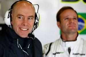 Jock Clear, Ingénieur de Course, Brawn GP et Rubens Barrichello, Brawn GP