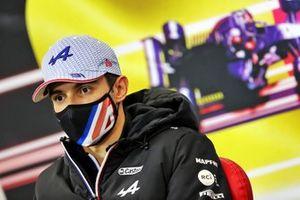 Esteban Ocon, Alpine F1, in de persconferentie