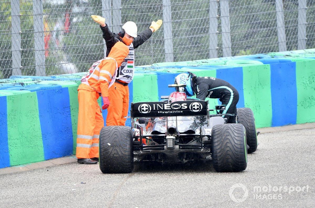 Valtteri Bottas, Mercedes W12 dopo il suo incidente