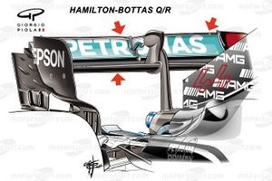 Заднее крыло Mercedes W12 в Гран При Бельгии