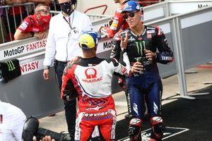 Polesitter Jorge Martin, Pramac Racing, second place Fabio Quartararo, Yamaha Factory Racing