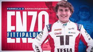 Enzo Fittipaldi na Fórmula 2 (Arte: Vinicius Andrade)