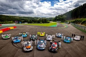 Toute l'équipe Porsche à Spa