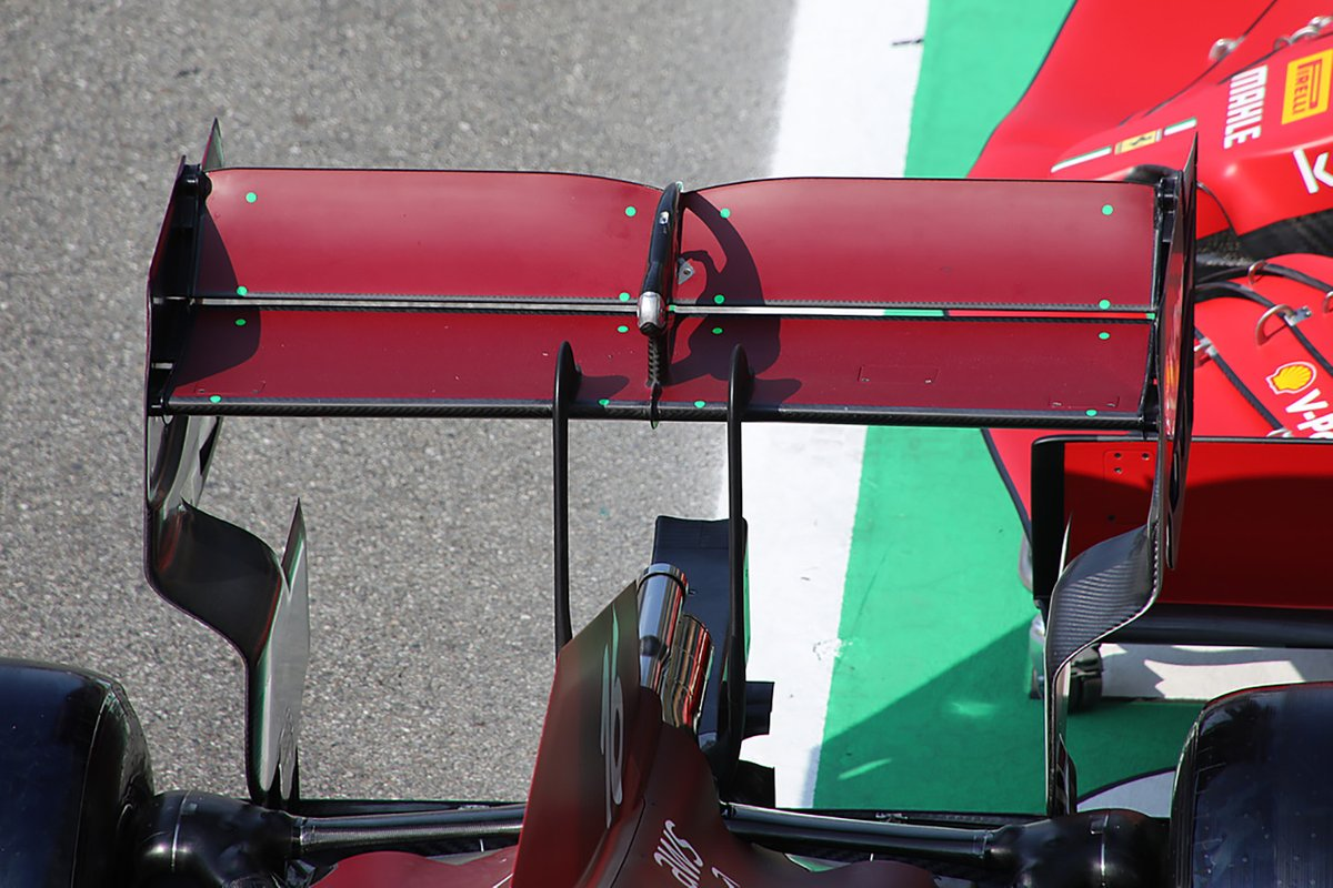 Ferrari SF21: Heckflügel