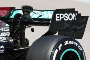 Mercedes F1 W12, dettaglio dell'ala posteriore