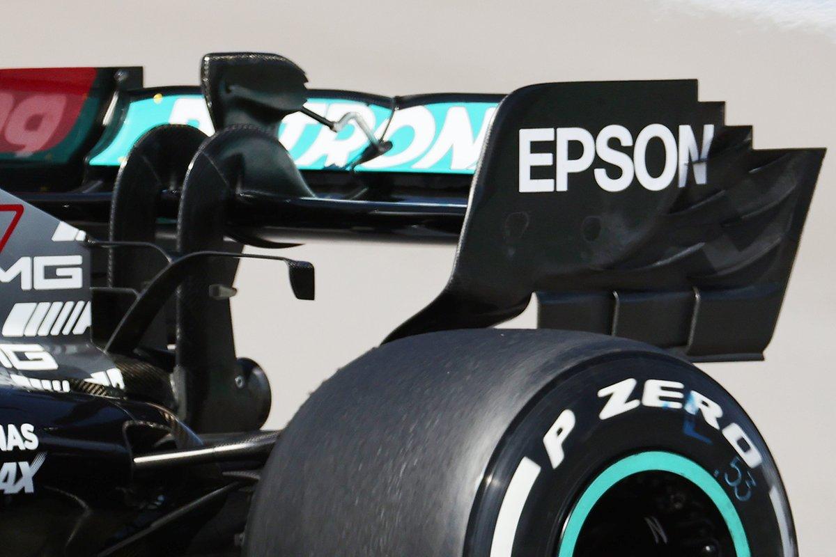 Mercedes F1 W12 rear wing detail