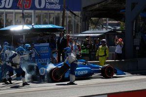 Alex Palou, Chip Ganassi Racing Honda, pit stop