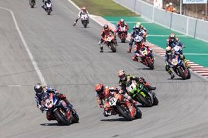 Superbike-Action in Barcelona: Toprak Razgatlioglu, PATA Yamaha WorldSBK Team, führt
