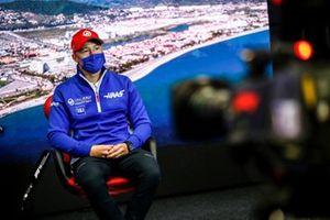 Nikita Mazepin, Haas F1 in the Press Conference