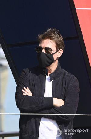 L'acteur Tom Cruise sur le podium