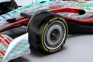 2022 F1 Car segmented wheel cover
