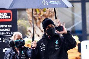 Angela Cullen, Physio for Lewis Hamilton with Lewis Hamilton, Mercedes