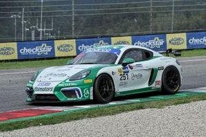 #251 Ebimotors, Porsche 718 Cayman GT4: Mattia Di Giusto, Riccardo Pera