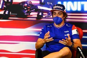 Fernando Alonso, Alpine alla conferenza stampa