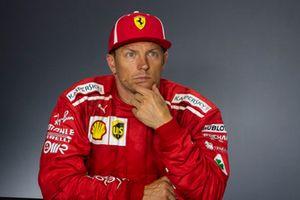 Kimi Raikkonen, Ferrari lors de la conférence de presse